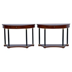 Italian Neo-Classical Style Console Tables by Decorative Crafts, a Pair