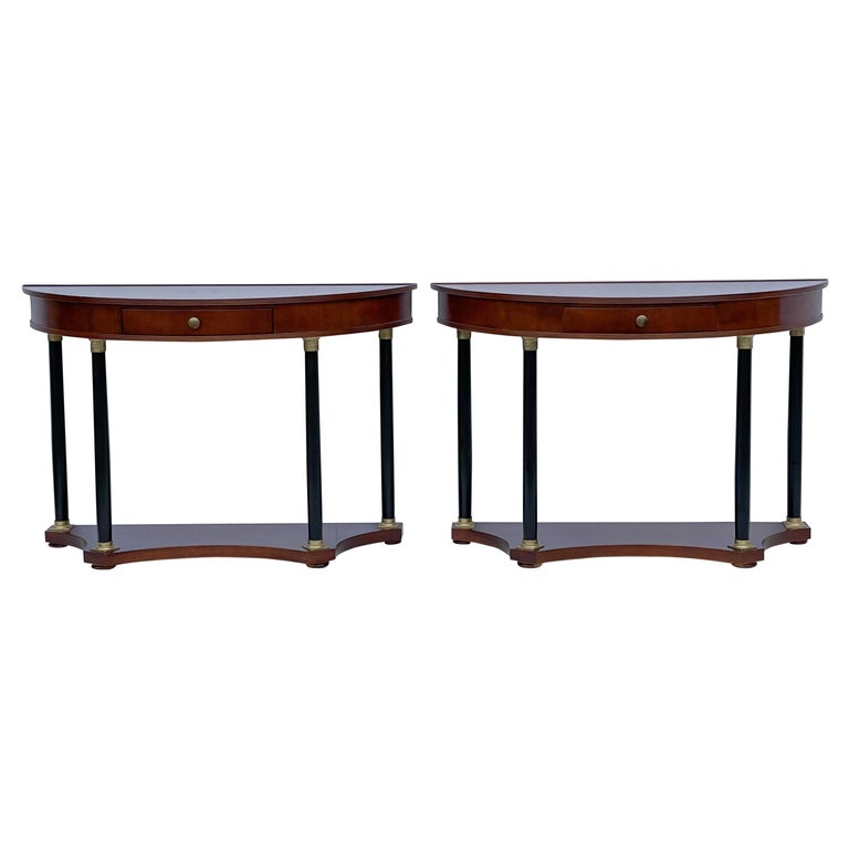 Italian Neo-Classical Style Console Tables by Decorative Crafts, a Pair For Sale