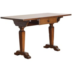 Italian Neoclassic 1-Drawer Writing Table in Walnut, Early 19th Century
