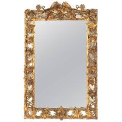 Italian Neoclassic '18th-19th Century' Gilt Wall Mirror