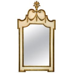 Italian Neoclassic Giltwood and Parcel Gilt Mirror