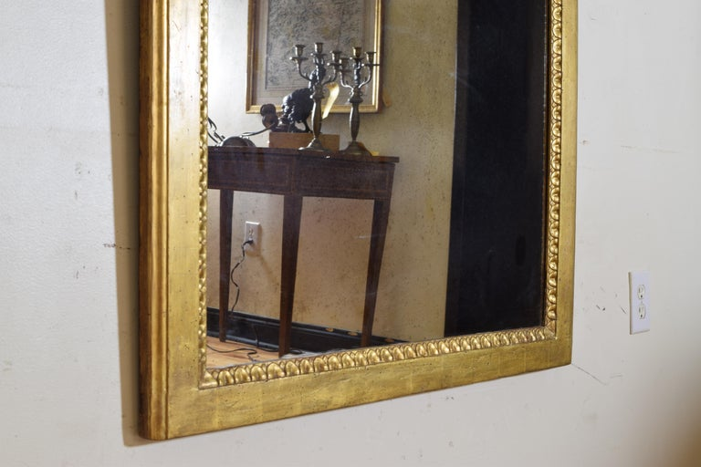 Italian Neoclassic Giltwood Arched Top Wall Mirror, circa 1800 For Sale 5