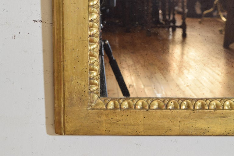 Italian Neoclassic Giltwood Arched Top Wall Mirror, circa 1800 For Sale 6