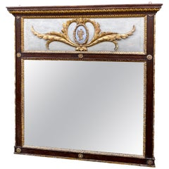 Italian Neoclassic Painted and Gilded Mirror