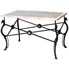 Italian Neo-Classic Style Maison Ramsey Marble Center Table