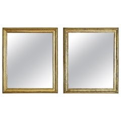 Italian Neoclassic Silver Gilt Mirrors, Second Quarter of the 19th Century, Pair