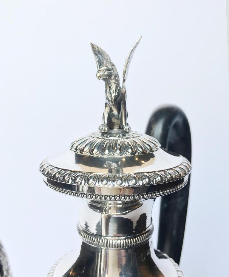 Italian Neoclassic Sterling Silver Coffee Pot, Milan, circa 1850 For Sale 9