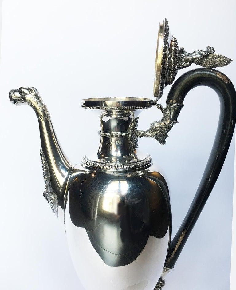 Italian Neoclassic Sterling Silver Coffee Pot, Milan, circa 1850 For Sale 11