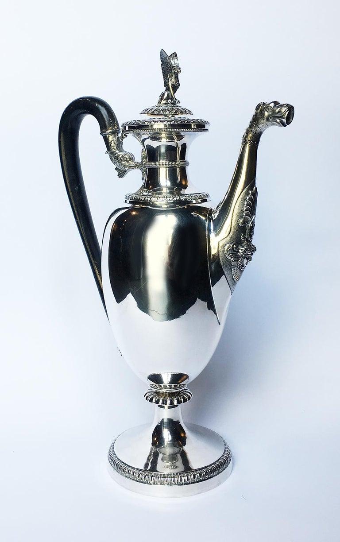 1840s Italian Neoclassic Sterling Silver Coffee Pot, Milan, circa 1850 For Sale