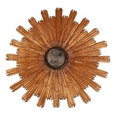 Italian Neoclassic Style Sunburst Wall Mirror