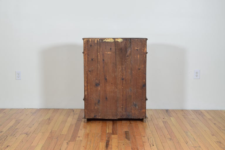 Italian Neoclassic Walnut and Mixed Woods Veneered Piccolo Credenza 19th Century 14
