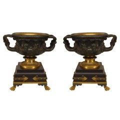 Italian Neoclassical Bronze and Gilt Urns