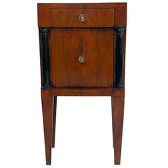 Italian Neoclassical Cherrywood Bedside Cabinet, circa 1810