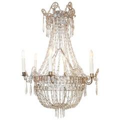 Italienischer neoklassischer Kristall-Kronleuchter