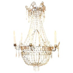 Italian Neoclassical Crystal Chandelier