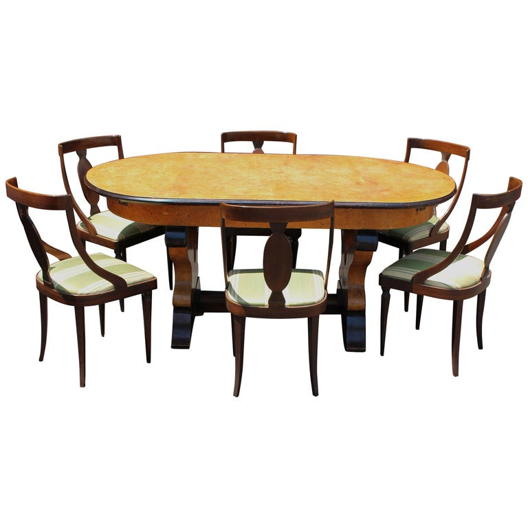 Italian Neoclassical Dining Room Set For Sale