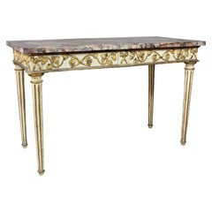 Italian Neoclassical Giltwood and Painted Console Table