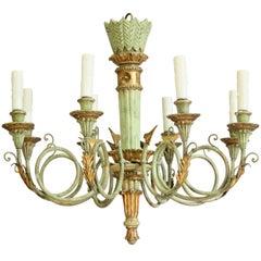 Italian Neoclassical Giltwood Chandelier