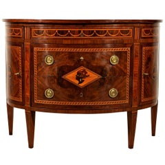 Italian Neoclassical Half-Moon Chest of Drawers by Ignazio and Luigi Ravelli