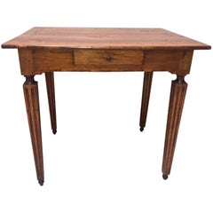 Italian Neoclassical Inlaid Walnut Centre Table