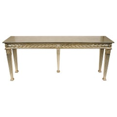 Italian Neoclassical Manner Silver-Gilt Console Table