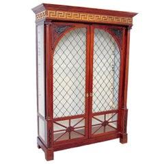 Italian Neoclassical Ormolu-Mounted Mahogany Bookcase