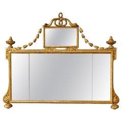 Italian Neoclassical Overmantle Mirror