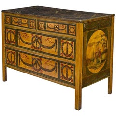 Italian Neoclassical Painted Commode, 18th Century