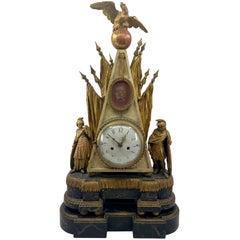 Italian Neoclassical Parcel-Gilt Clock