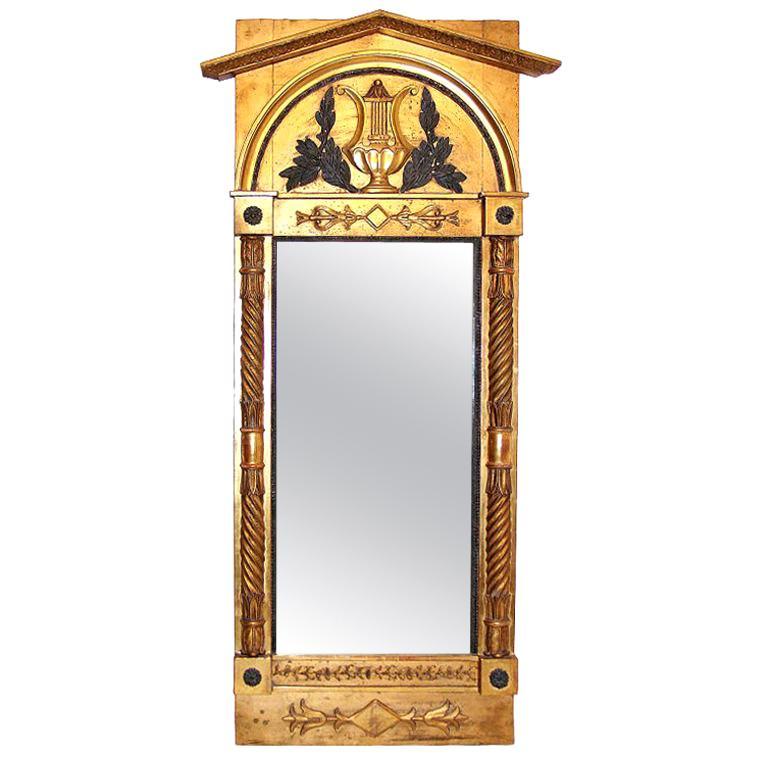 Italian Neoclassical Pier Mirror For Sale