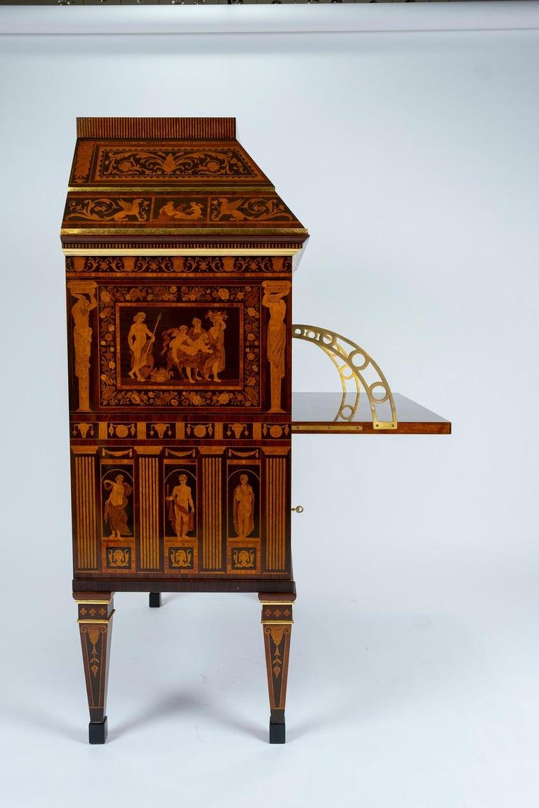 Italian Neoclassical Secretaire For Sale 13