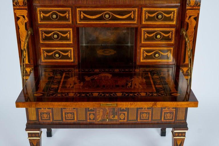 Ebony Italian Neoclassical Secretaire For Sale