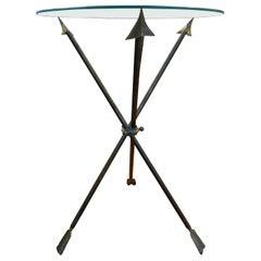 Italian Neoclassical Style Bronze Arrow Table Gio Ponti Inspired
