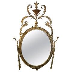 Italian Neoclassical Style Gilt Metal Mirror-Palladio Attributed