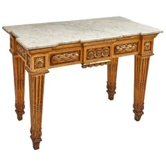 Italian Neoclassical Style Giltwood Console Table, circa 1880