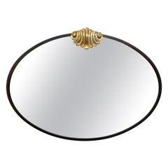 Italian Neoclassical Style Osvaldo Borsani Inspired Bronze Mirror