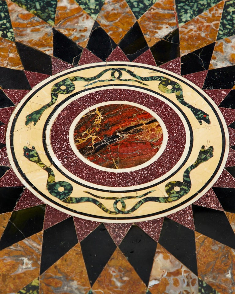Italian Neoclassical Style Pietra Dura Marble Centre Table 8