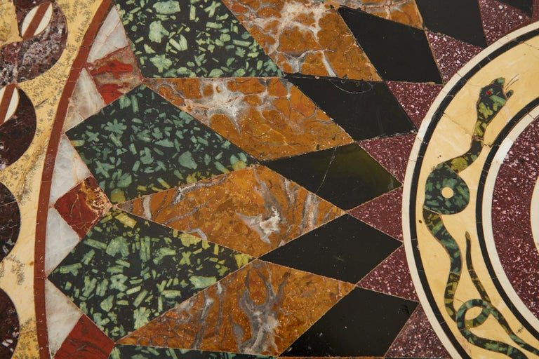 Italian Neoclassical Style Pietra Dura Marble Centre Table 11