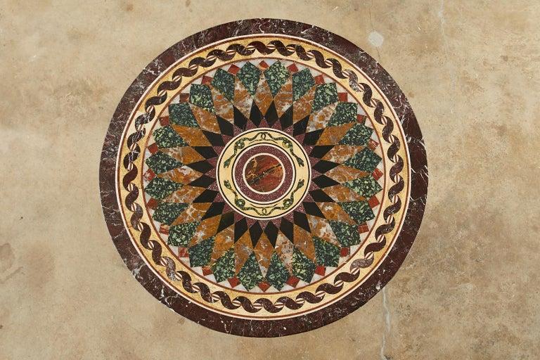 Italian Neoclassical Style Pietra Dura Marble Centre Table In Good Condition In Rio Vista, CA