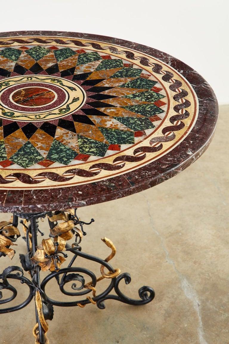 Italian Neoclassical Style Pietra Dura Marble Centre Table 1