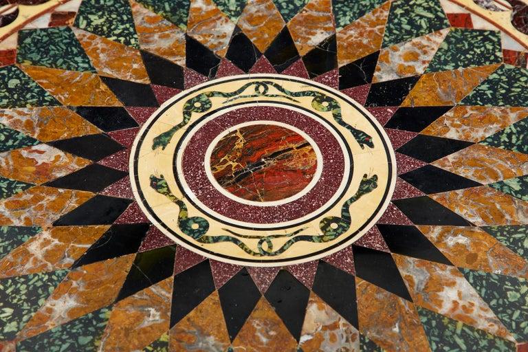 Italian Neoclassical Style Pietra Dura Marble Centre Table 2