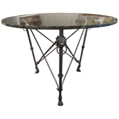 Italian Neoclassical Style Steel and Bronze Center Table