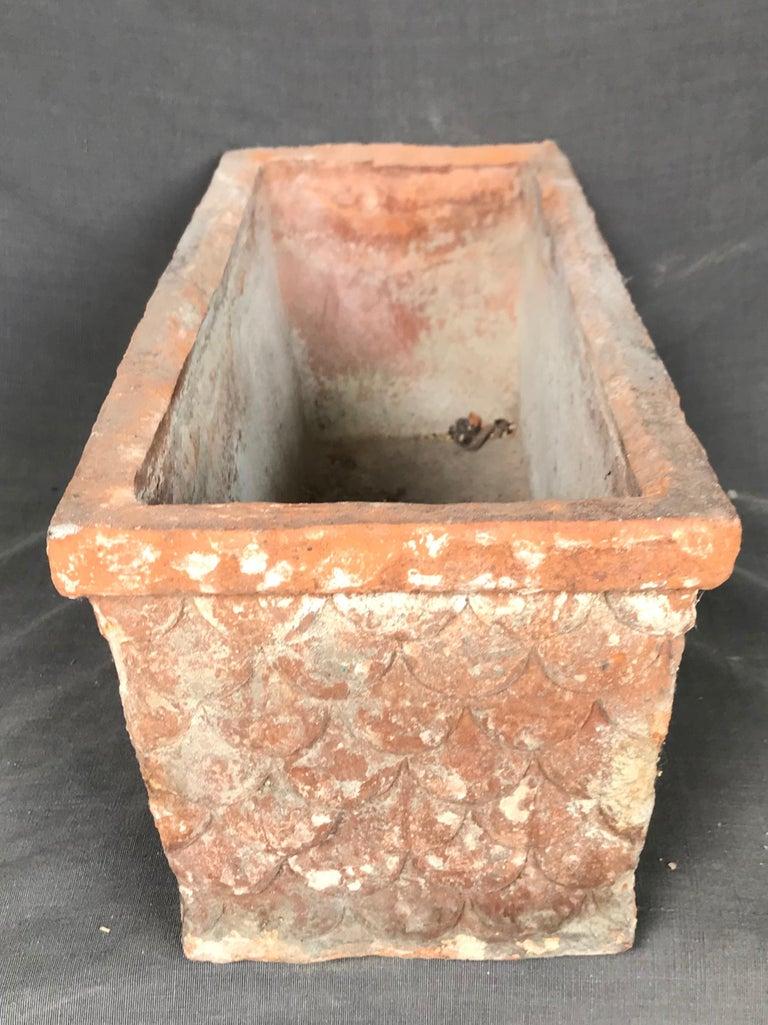 Italian Neoclassical Terracotta Planter For Sale 4