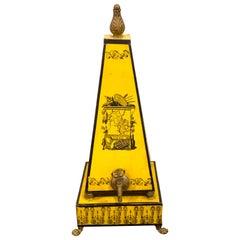 Italian Neoclassical Tole Obelisk Lavabo