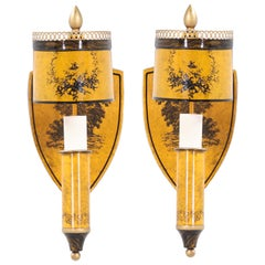 Italian Neoclassical Tole Painted Sconces