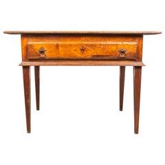 Italian Neoclassical Walnut Table or Desk