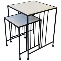 Italian End or Nesting Tables in the Art Deco Bauhaus Style, Pair or Set