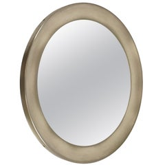 Italian Nickel-Plated Brass Round Mirror Narcisso by Sergio Mazza for Artemide