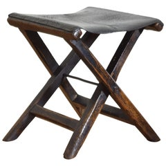 Fantastic 19Th Century Oak Stool With Leather Strapping For Sale At Gmtry Best Dining Table And Chair Ideas Images Gmtryco
