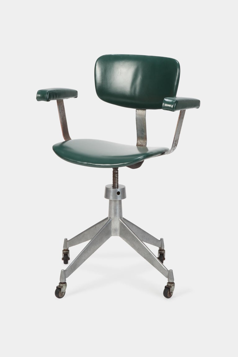 italian office chair gio ponti style 1950s at 1stdibs